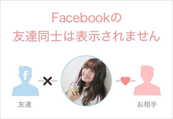 Omiai:Facebookの友達同士は表示されない